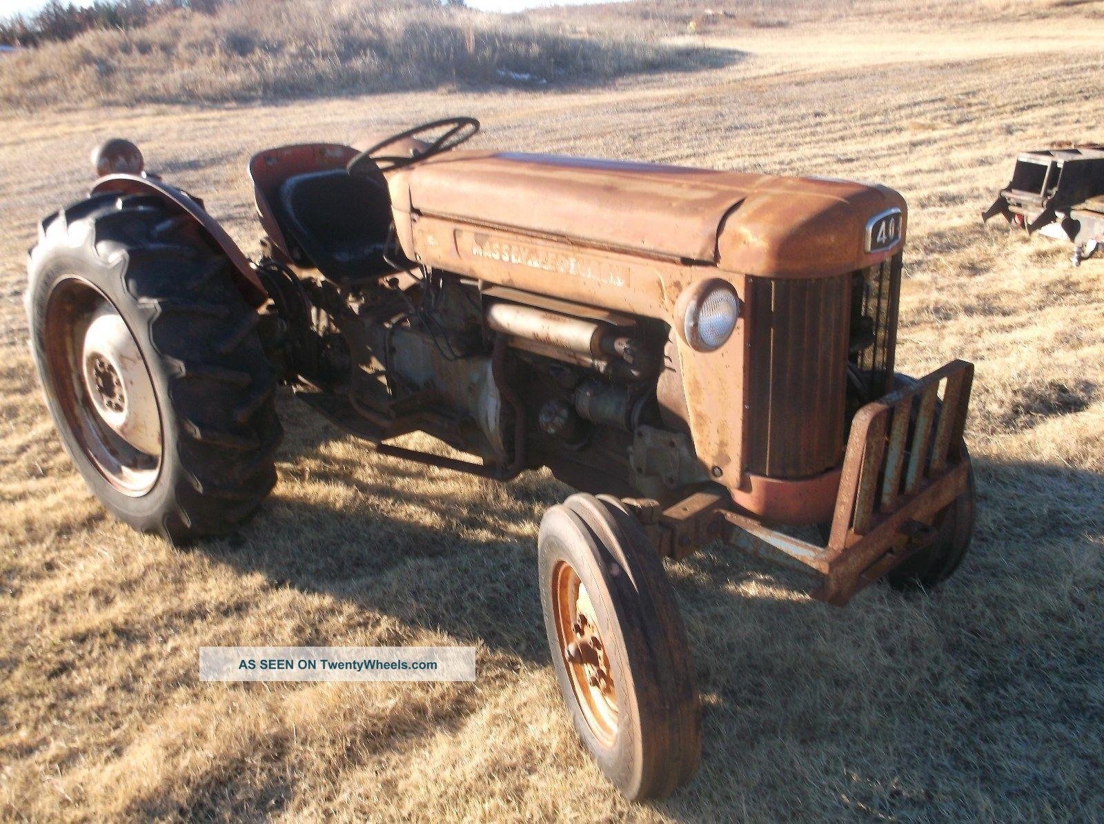 Ferguson 40 Tractor : Massey harris ferguson model tractor has power