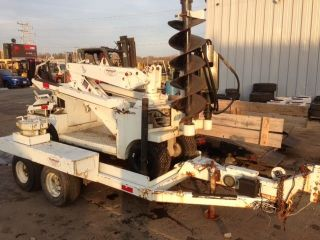 Powerdyne Posthole Drill With Trailer photo