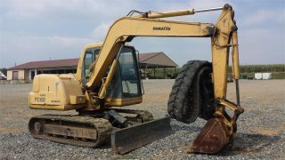 2001 Komatsu Pc60 - 7 Hydraulic Construction Excavator Backhoe Machine Cab,  Heat. photo