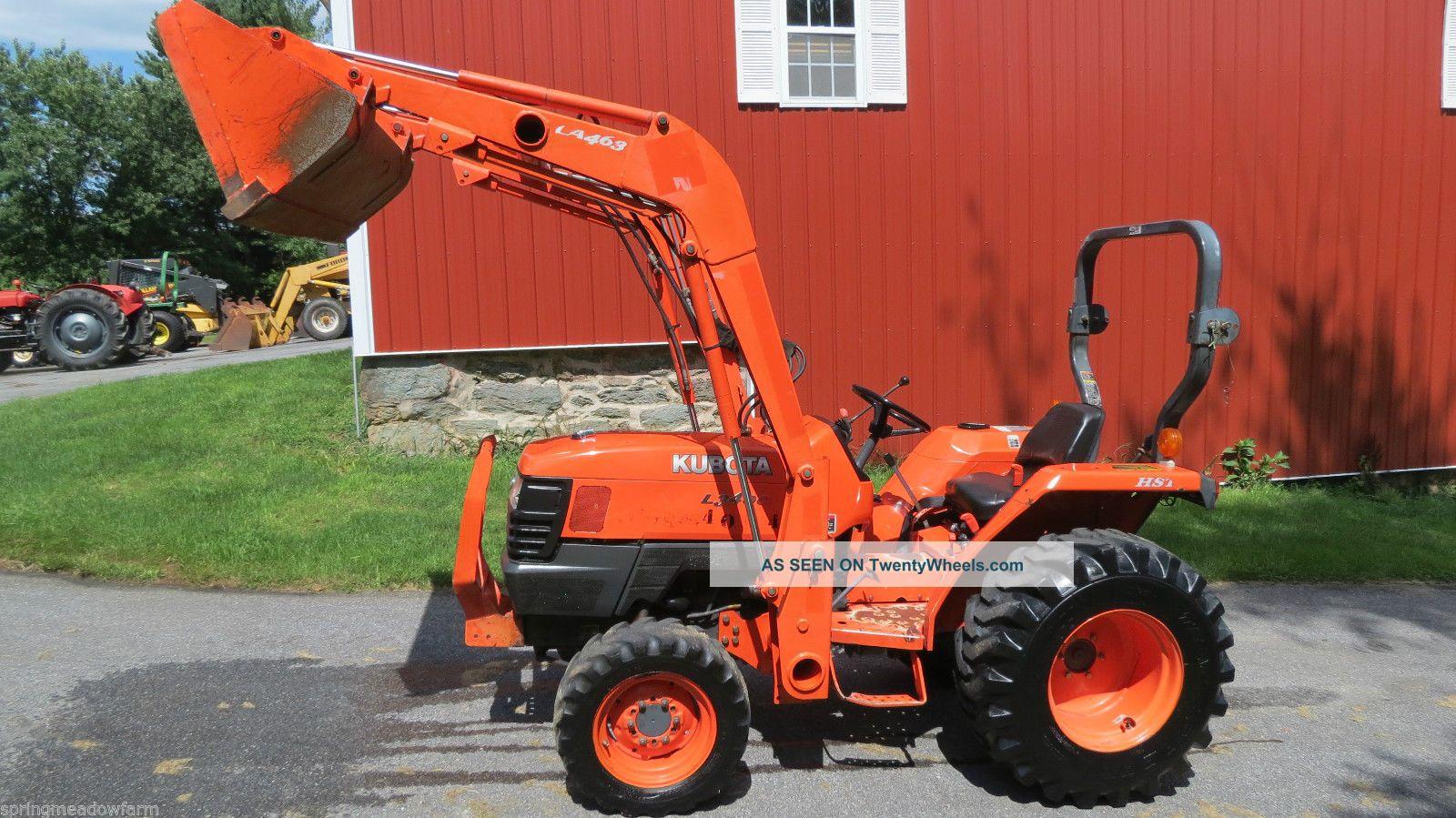 2007 Kubota L3400 4x4 Hydrostatic Compact Loader Tractor