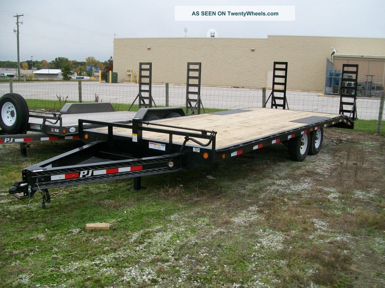 Heavy Duty Tractor Trailer : Flat bed heavy duty equipment trailer quot