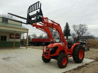 2013 Kubota Diesel Mx5100 4x4 Tractor Loader Forks W/ photo