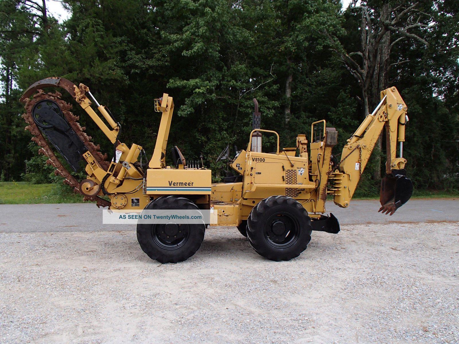2003 Vermeer V8100 Trencher / Backhoe Construction Heavy Equipment Trenchers - Riding photo