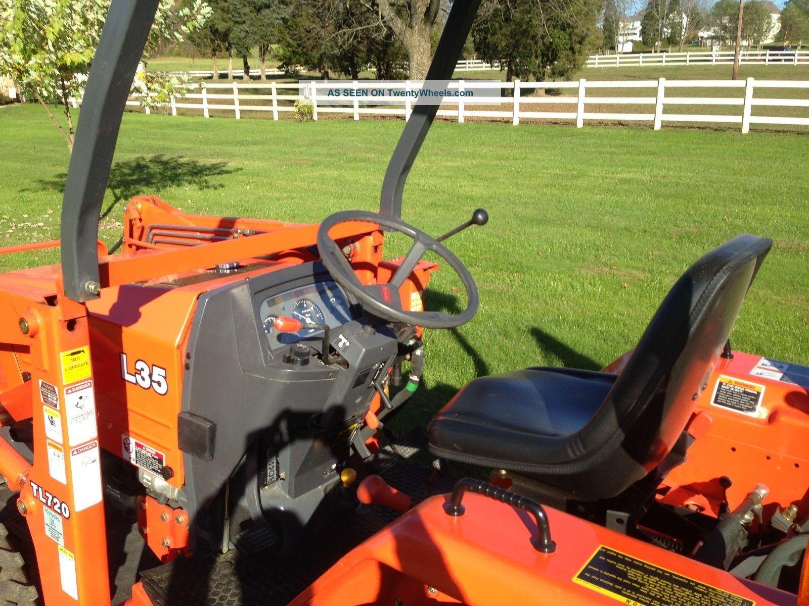 Kubota L35 Commercial Duty Tractor Loader Backhoe, 441 Hours