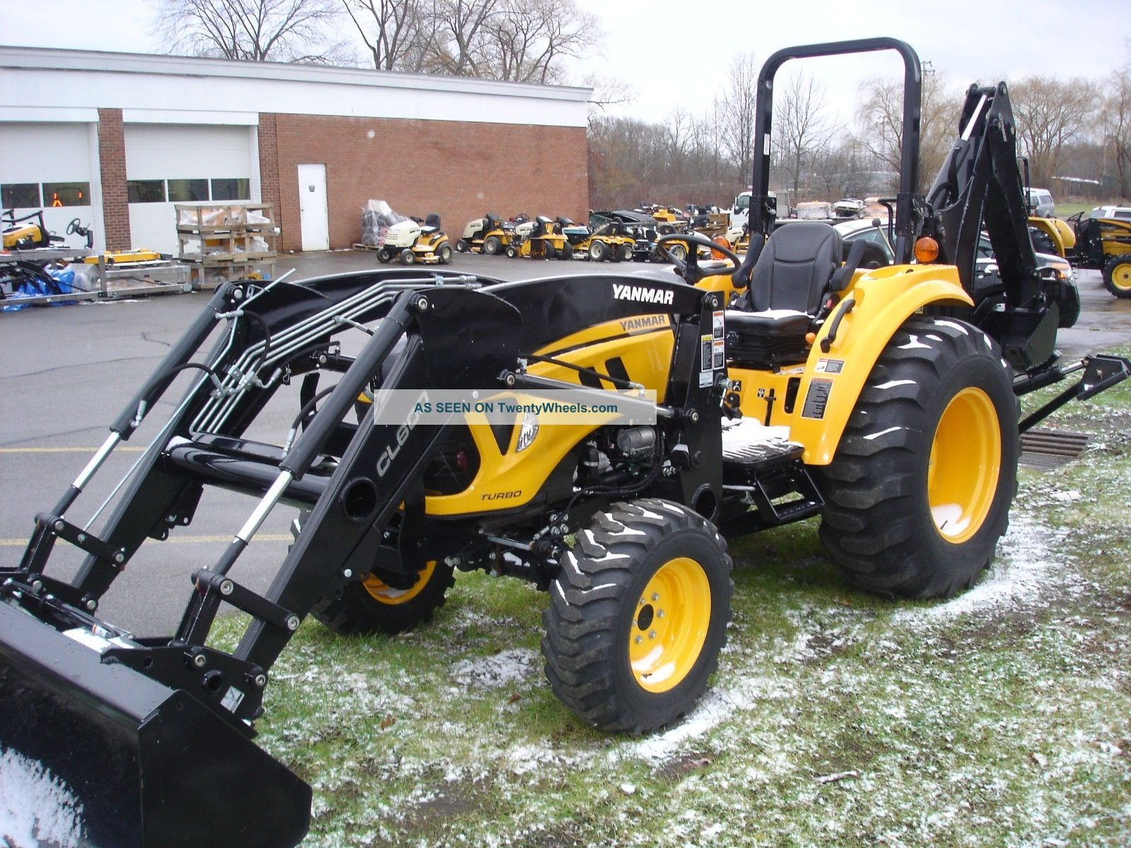 Small Tractors With Loaders : Yanmar lx turbo diesel compact tractor with