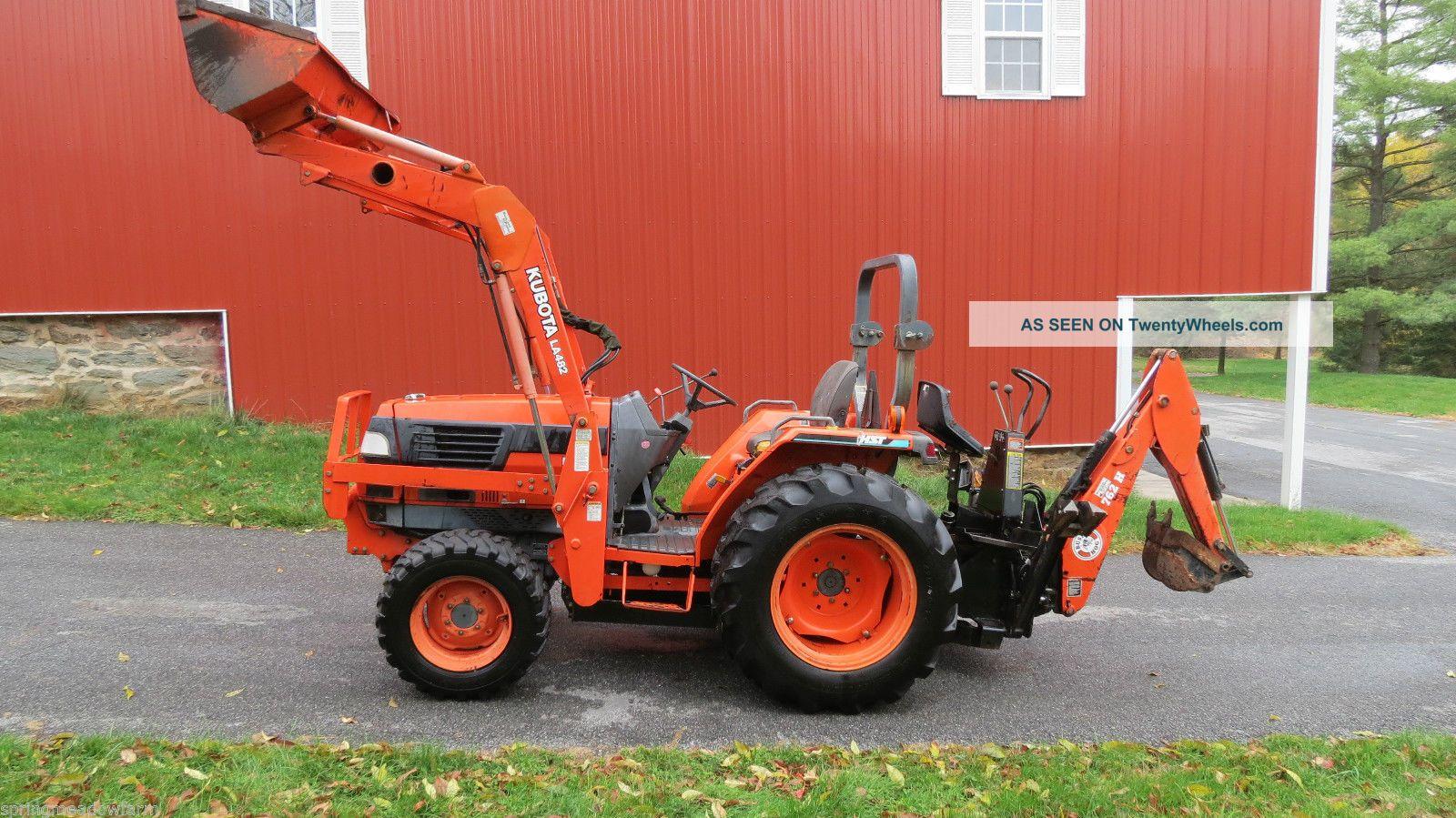2000 Kubota L3010 4x4 Hydrostatic Compact Tractor Loader Backhoe 745