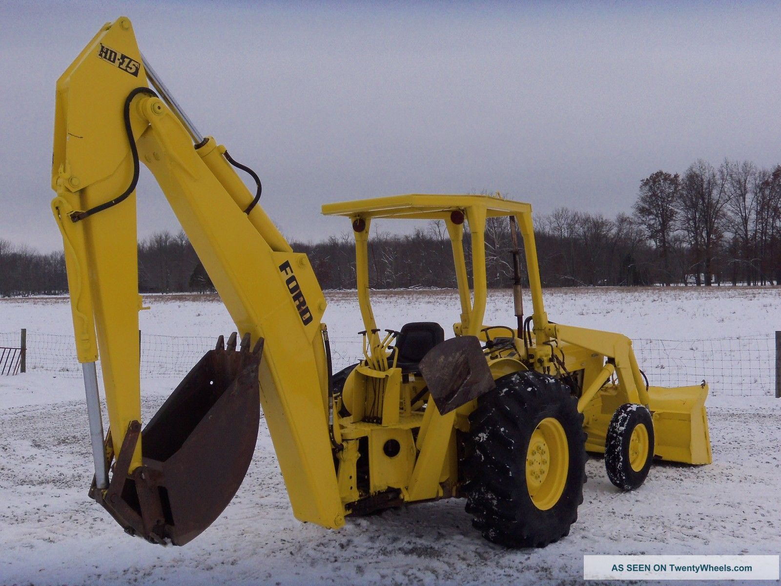 Ford 4500 Industrial Tractor Backhoe : Ford industrial loader