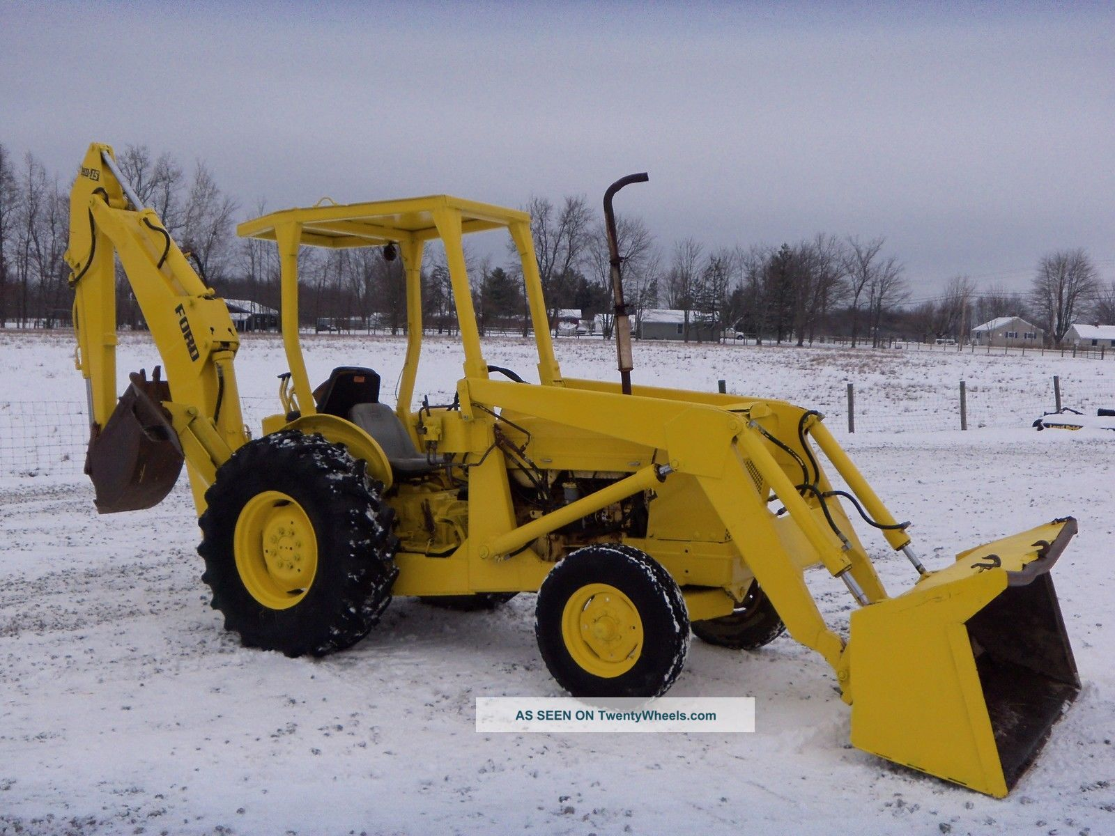 Ford 4500 Industrial Tractor Backhoe : Ford tractor loader backhoe
