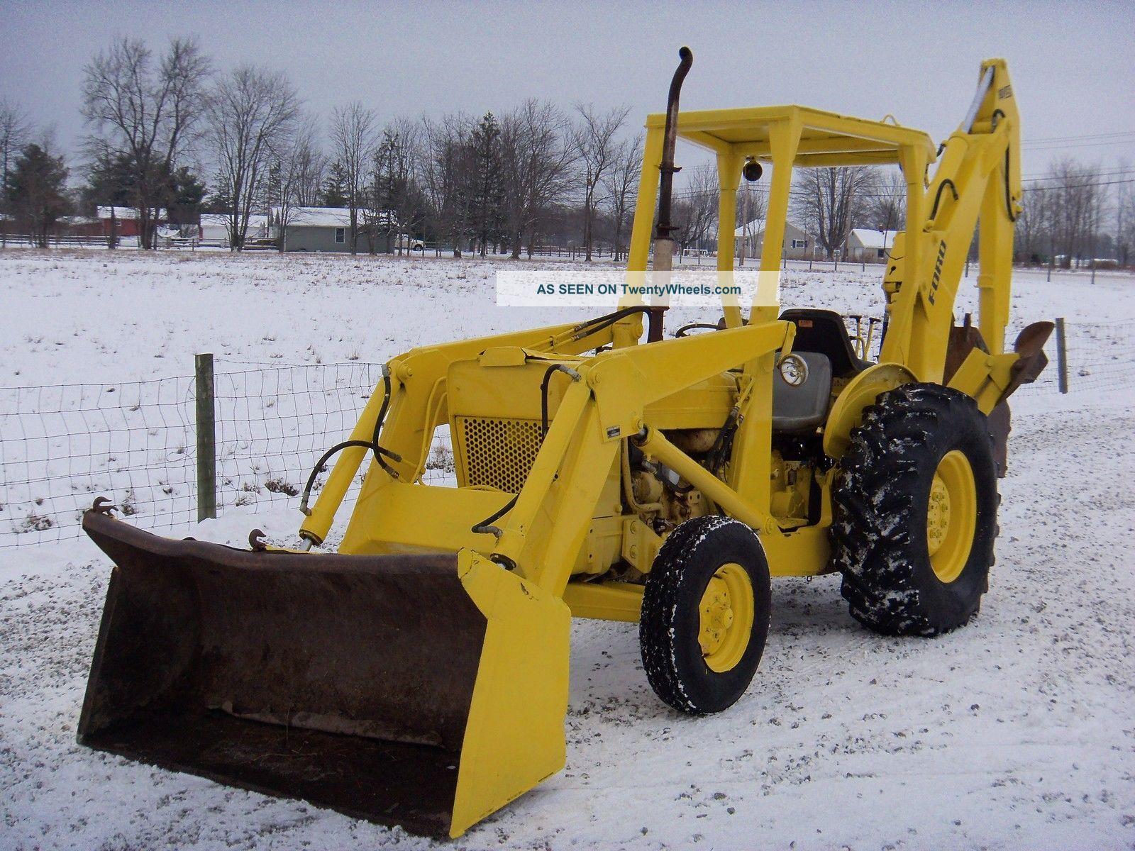 Ford 4500 Industrial Tractor Backhoe : Ford backhoe diesel