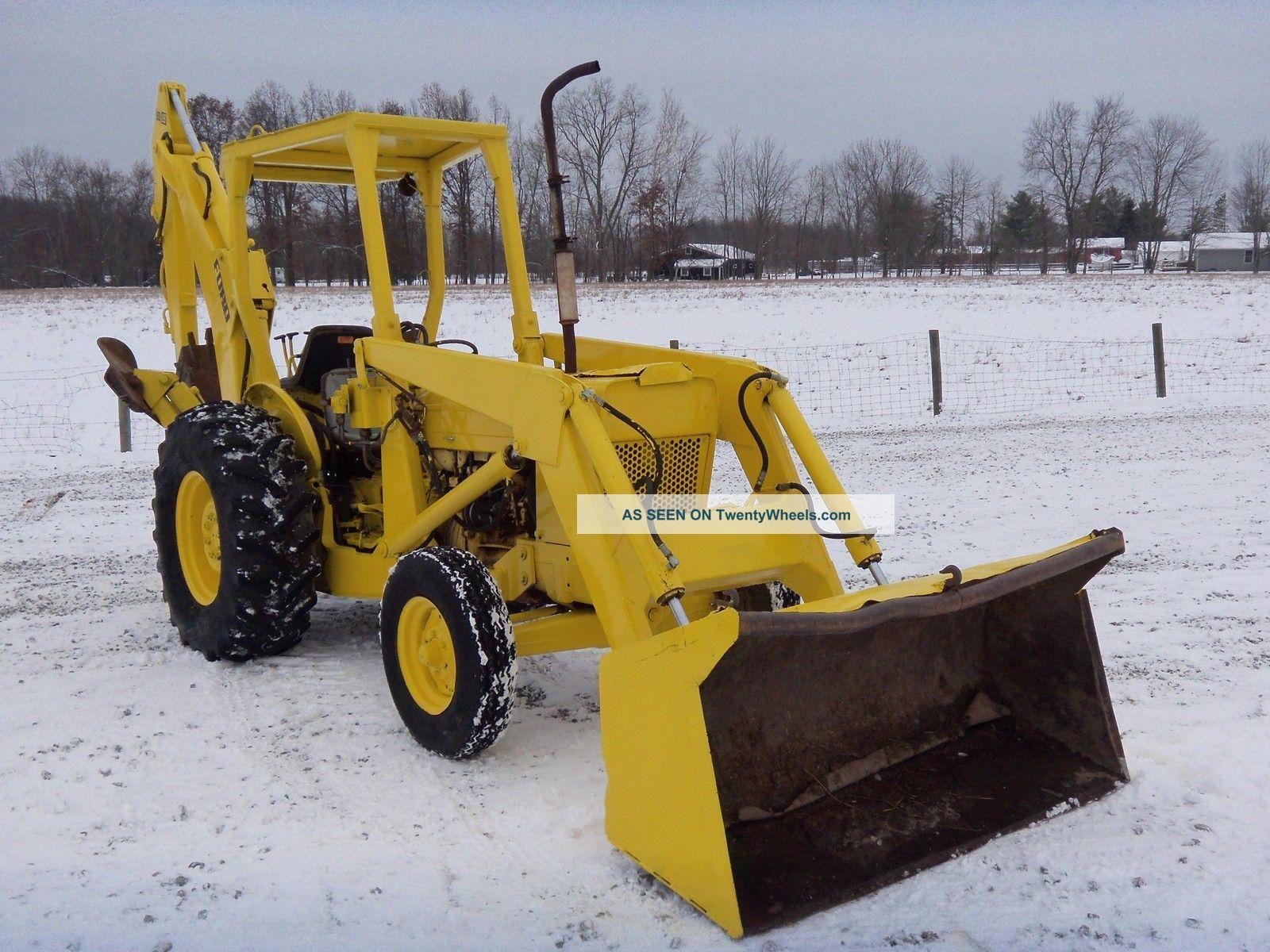Ford 4500 Industrial Tractor Backhoe : Ford backhoe loader diesel hours