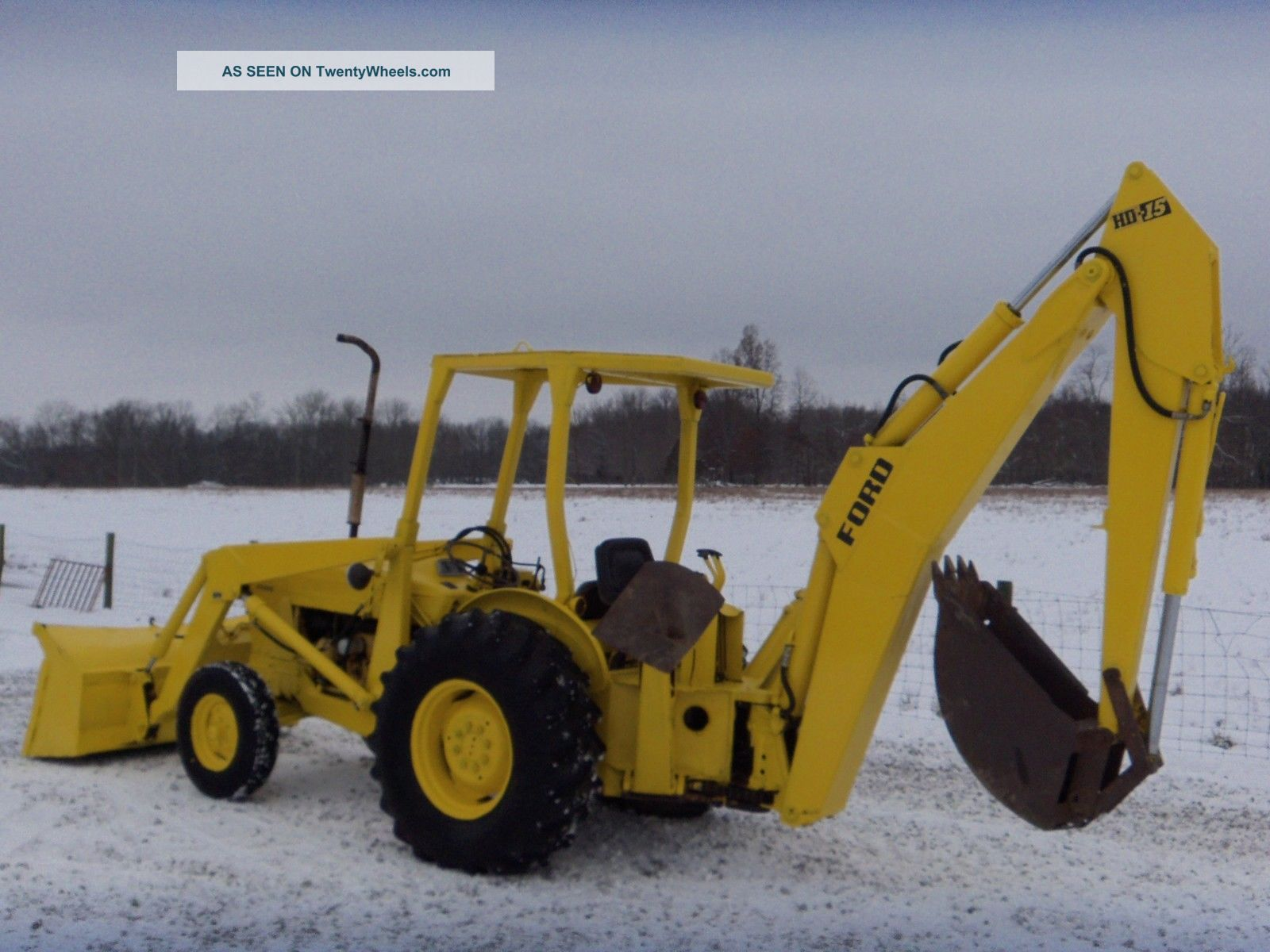 Ford 4500 Industrial Tractor Backhoe : Ford industrial loader tractor