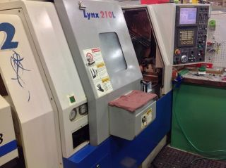 2002 Daewoo Lynx 210lc Cnc Turning Center W/ Tailstock Fanuc Control 8