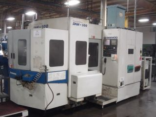 2001 Daewoo Doosan Dhm 500 Horizontal Machining Center Fanuc 60 Tools Rigid Tap photo