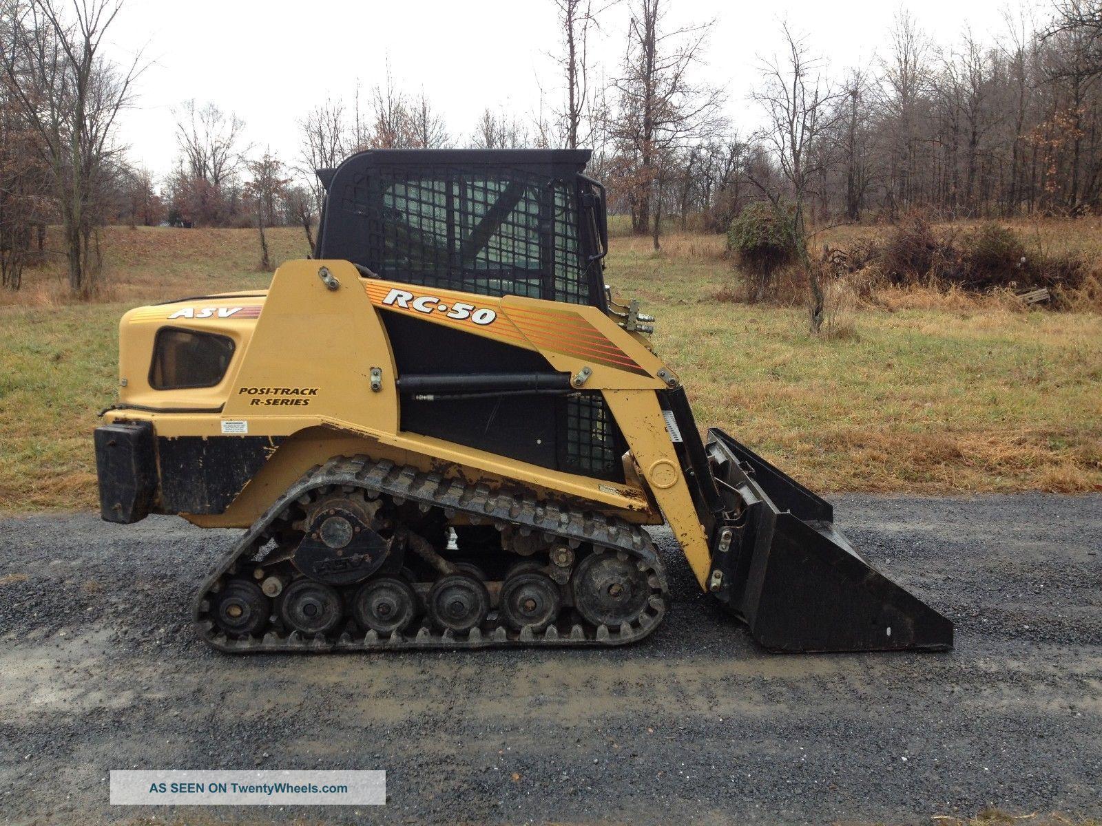 Track Skid Steer Loader : Asv rc track skid steer loader skidloader cab cat engine