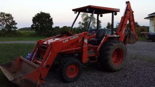 2004 Kubota L48 Tractor Loader Backhoe 581 Hours photo