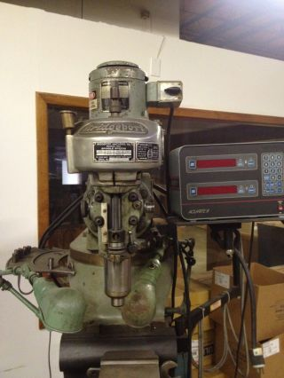Bridgeport Vertical Milling Machine,  With Dro 9