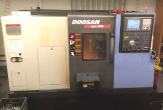 2008 Doosan Lynx 220lc Cnc Lathe Turning Center Fanuc With Turbo Chip Conveyor photo