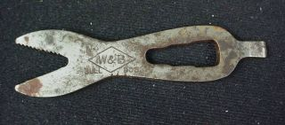 Primitive Antique Farm Wagon Implement Alligator Wrench No.  0 W&b Bull Dog photo
