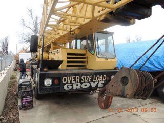50 Ton Grove Tms475lp Hydraulic Truck Crane.  Grove Crane.  Grove Tms475lp Crane. photo
