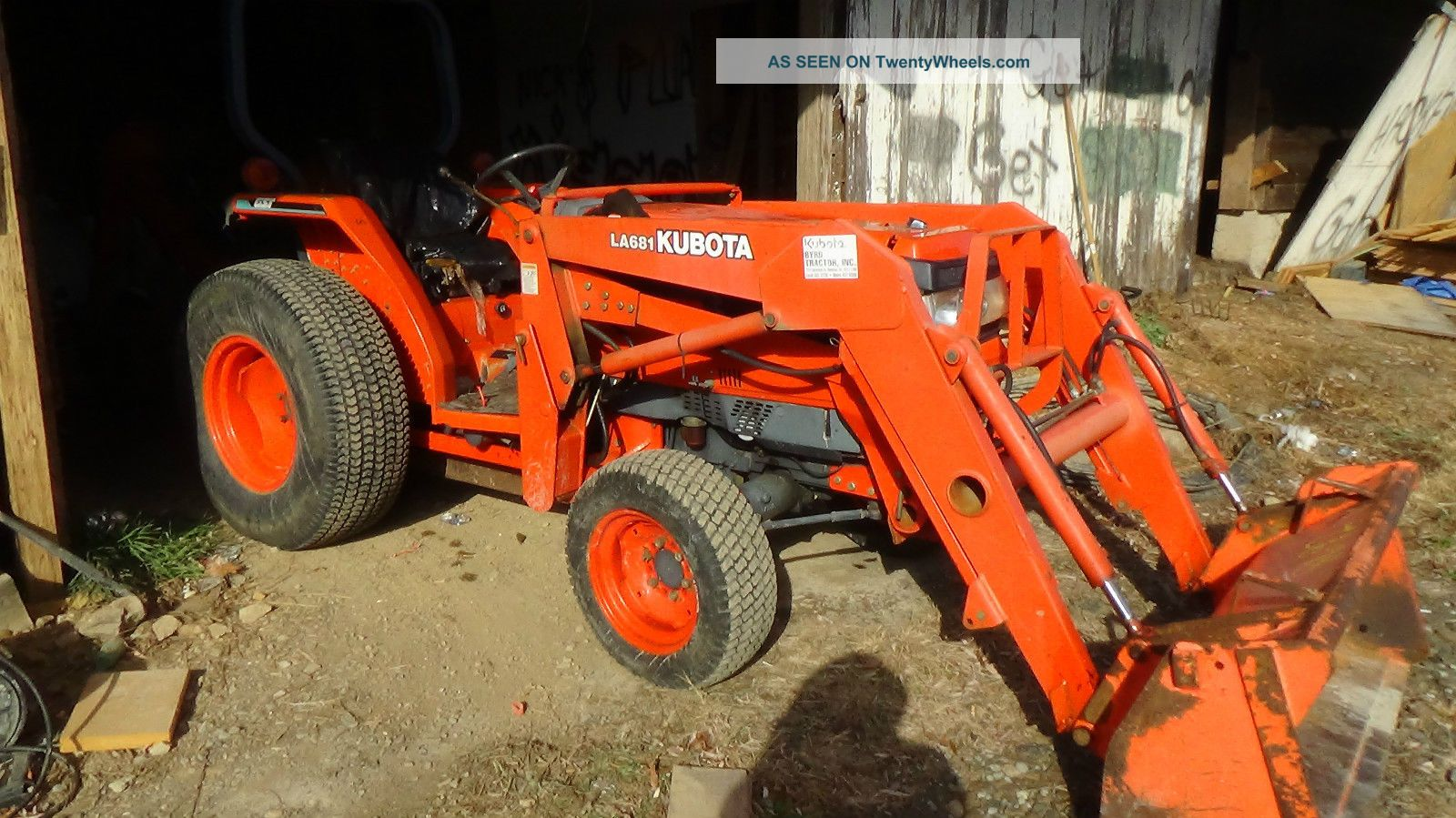2001 Kubota L3710 4x4 Tractor With Loader And Backhoe