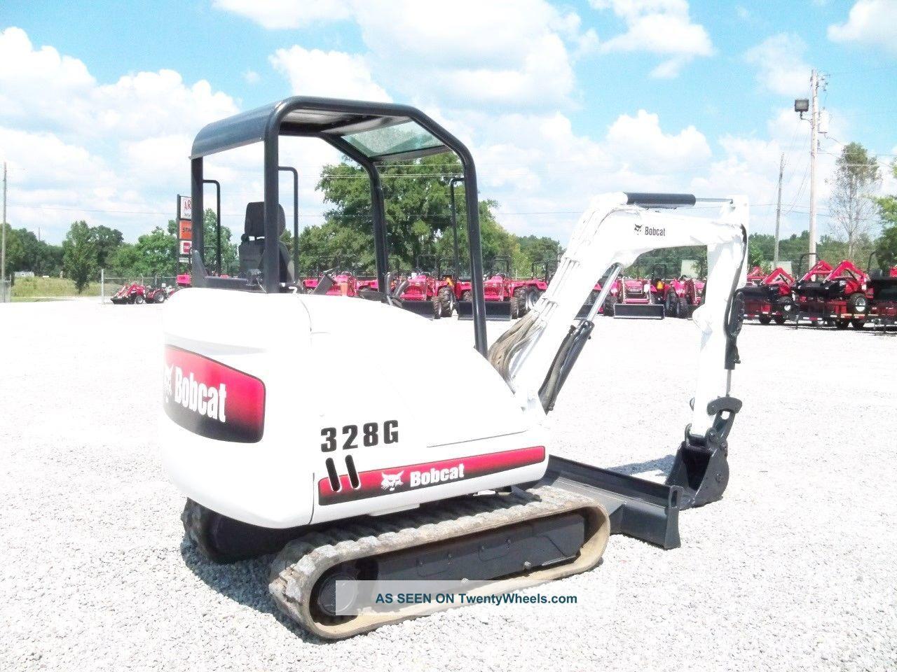2006 Bobcat 328g Mini Excavator Loader Backhoe Orops