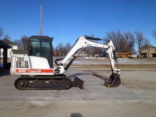 Bobcat 337 Track Excavator Dozer Enclosed Cab / Heat 2 Speed photo