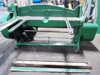 Niagra 5 Ft X 16 Ga Mechanical Power Shear Power Squaring Shear Mechanic Shear photo