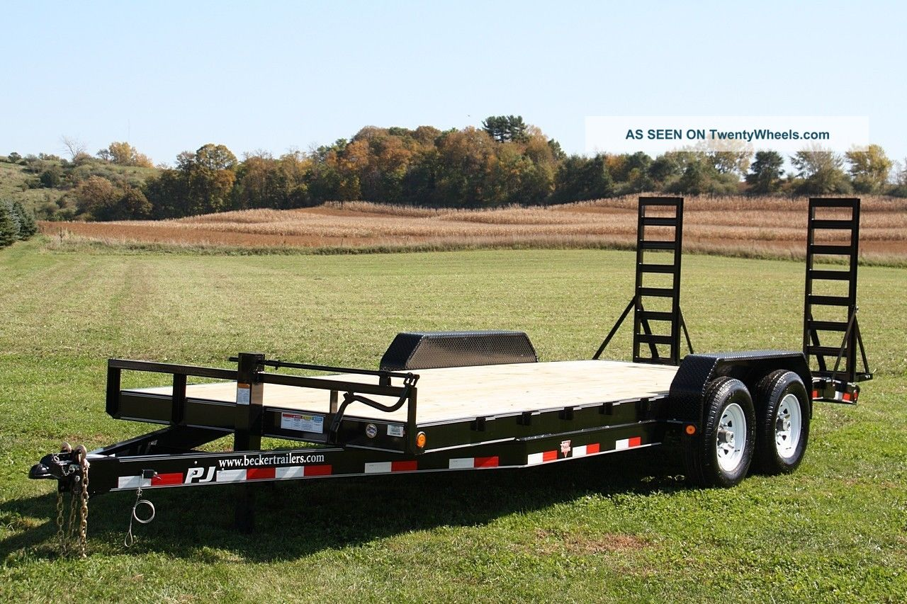 Led Lights For Tractor Trailers : Heavy equipment flatbed trailer k gvwr led