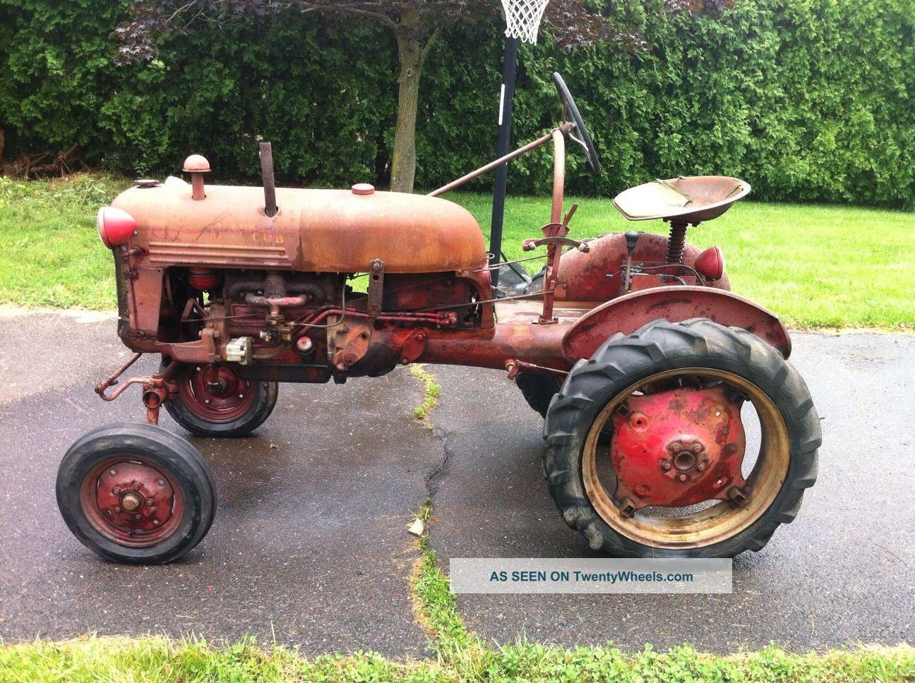 Farmall Cub Tractor With Attachments