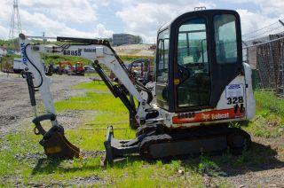 2006 Bobcat 328 2.  5 Ton Mini Excavator With Full Heated Cab,  Kubota Engine. photo