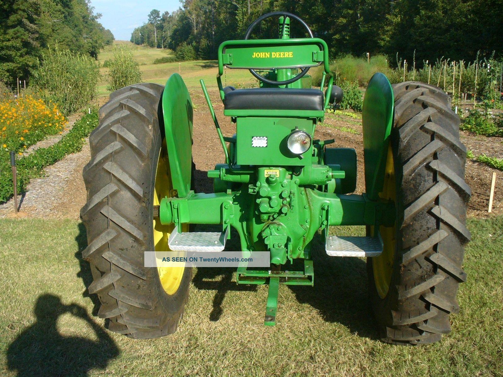 Antique Tractors Equipment : Antique john deere a tractor