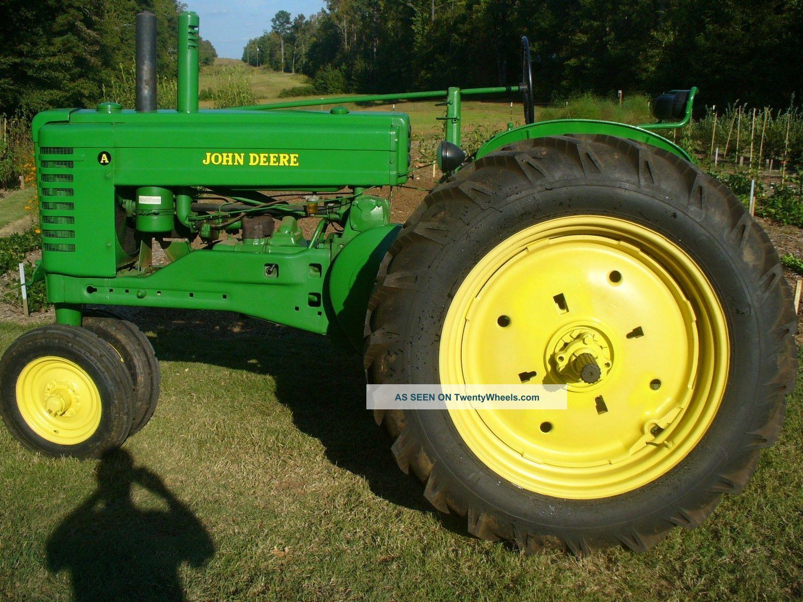 Old John Deere Tractors : Antique john deere a tractor