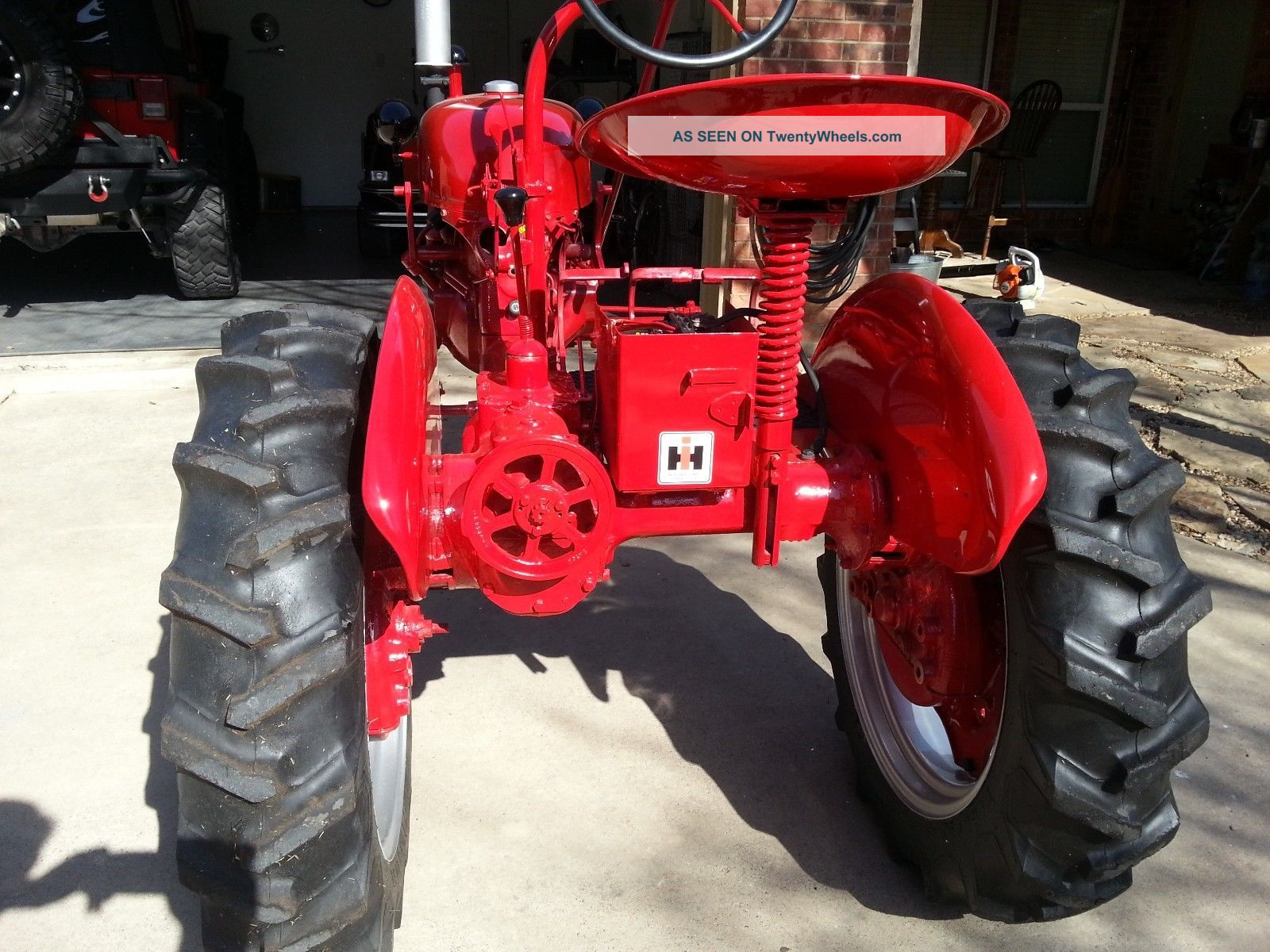 Farmall Tractor Painting : Mccormick farmall cub tractor red paint with belly mower