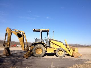 2001 Caterpillar 420d 4wd Backhoe Loader; Solid Boss Style Solid Tires; 4298 Hrs photo