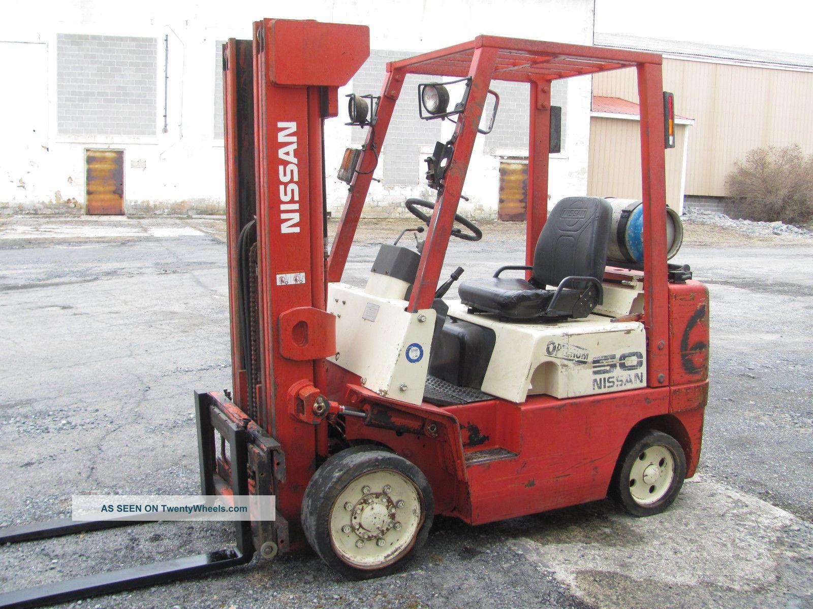 Four Way Side Loader Forklift Mitsubishi Rbm2025k Series: 1999 Nissan 50 Cushion Forklift, Optimum Series, Three
