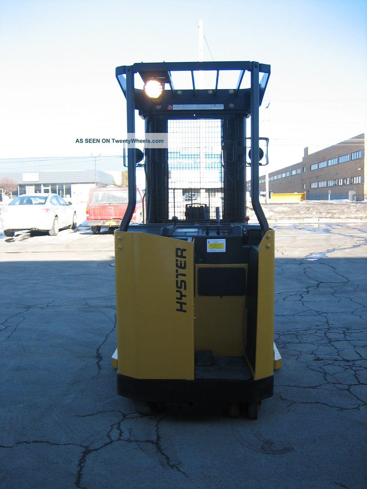Hyster Forklift Reach Truck 4500lb 197 Lift 36 Volt W