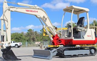 Takeuchi Tb135 Excavator,  8000 Lbs,  Digs11ft,  Quick Coupler,  Plumbed,  18