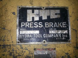 200 Ton X 12 ' Htc Cnc Hydraulic Press Brake Hurco Backgage Ready To Go photo