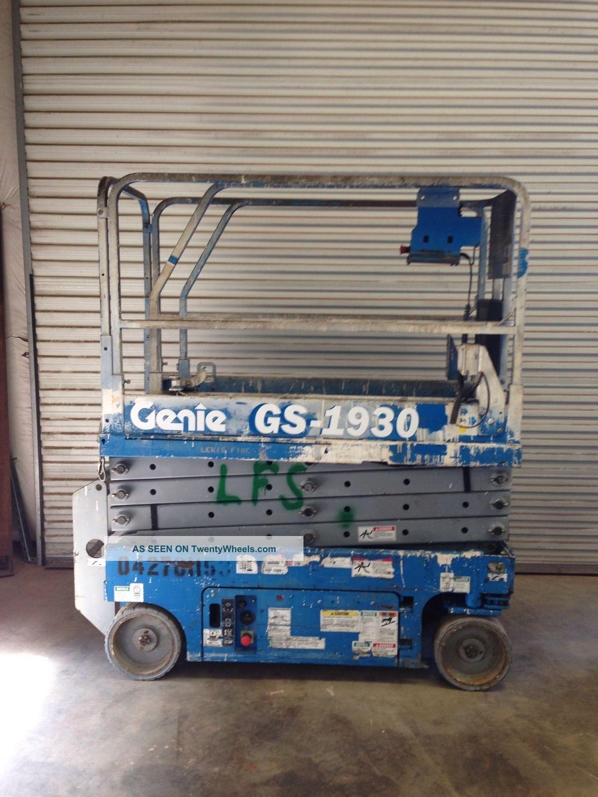 2005 Genie Gs 1930 Scissor Lift Skyjack Jlg Aerial Boom Forklift Wiring Diagram For