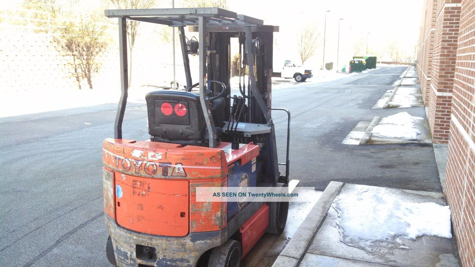 Fork Lift Guarding : Toyota forklift electric fbcu quad mast drive in rack