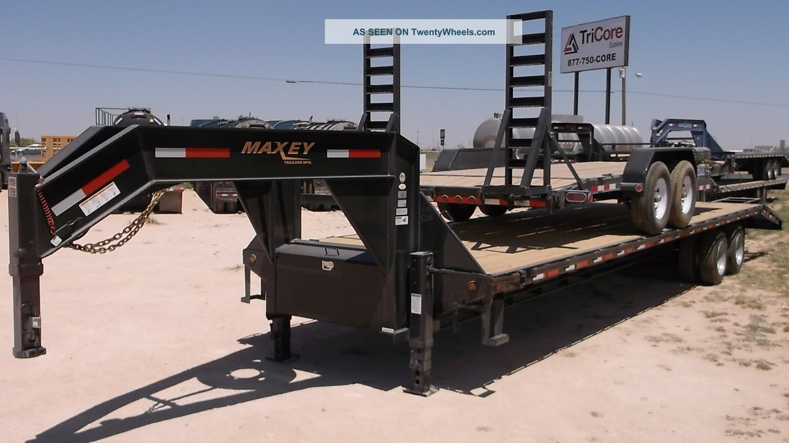 35 39 maxey heavy duty gooseneck trailer 30 000 lbs. Black Bedroom Furniture Sets. Home Design Ideas