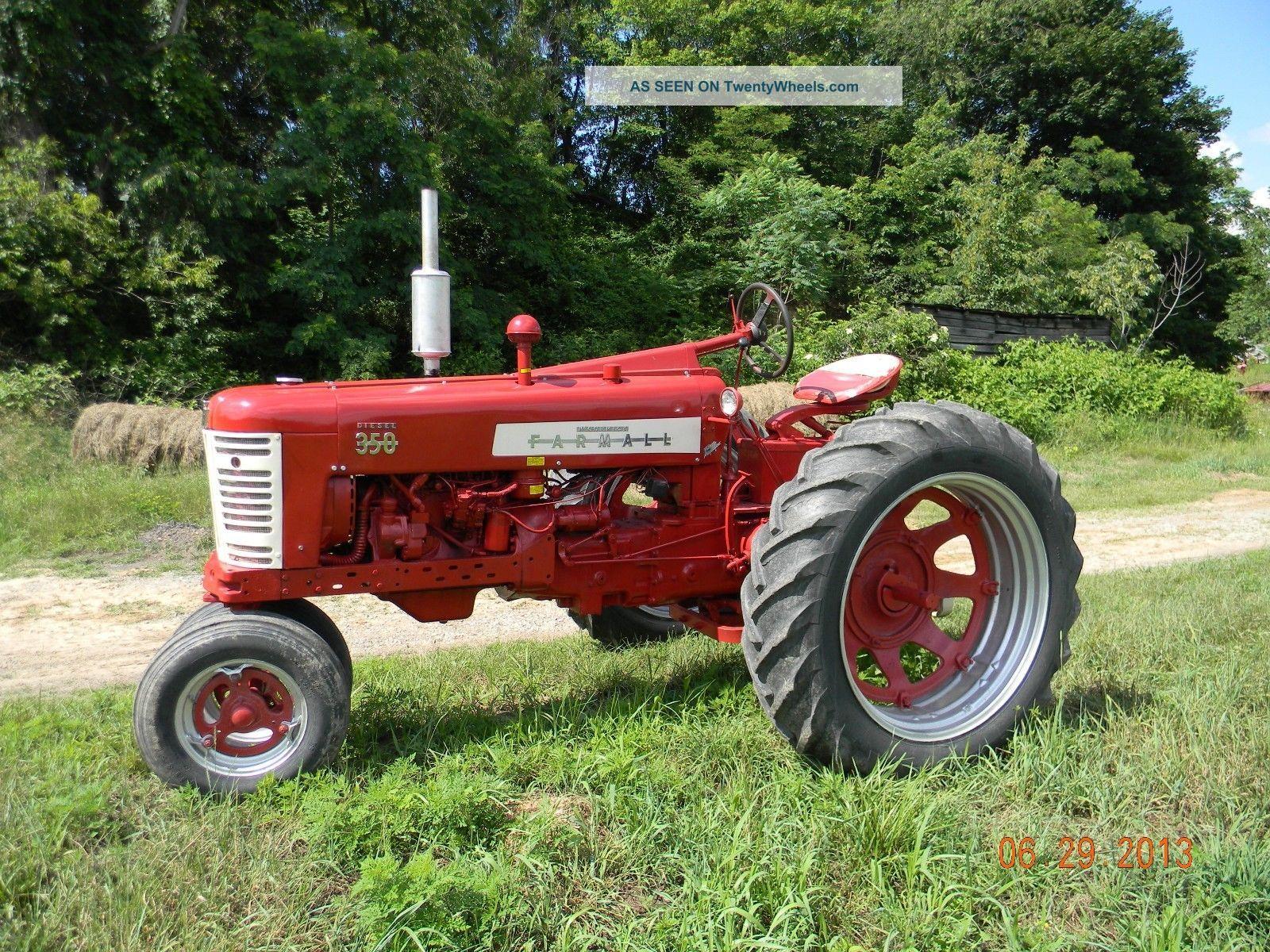 1954 Farmall Mts Diesel & 1957 Farmall 350 Diesel Tractor