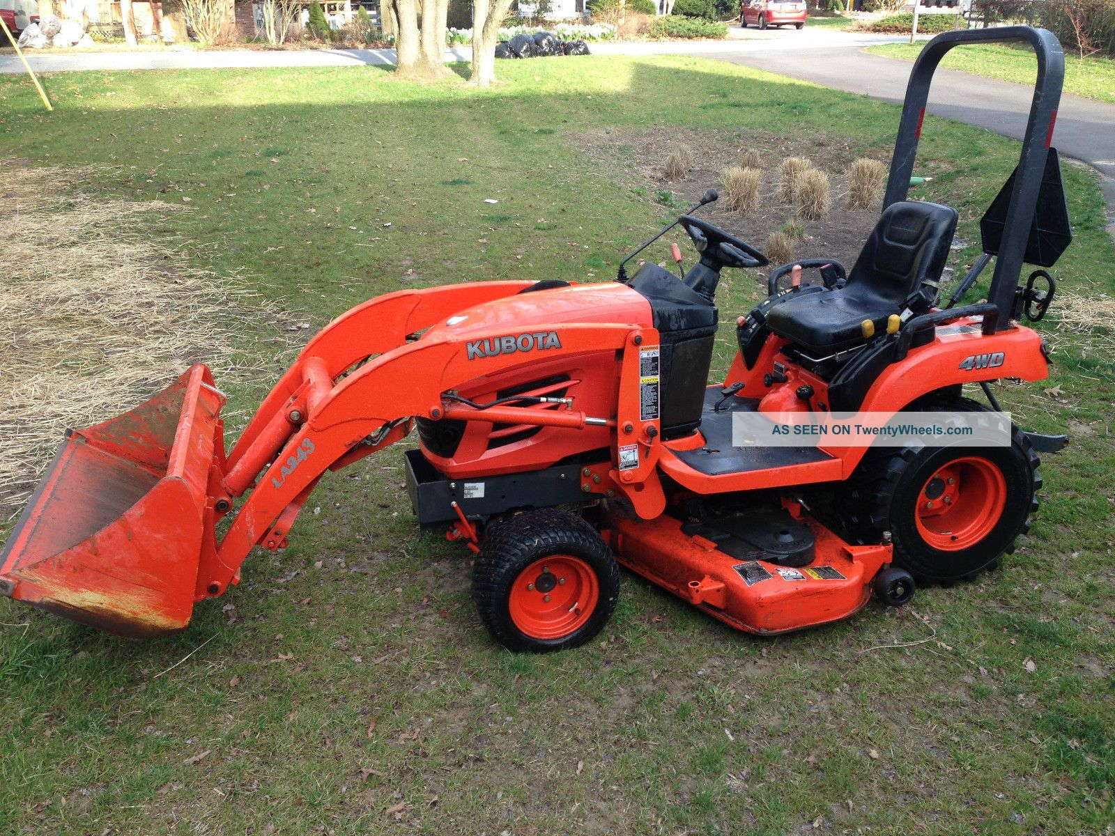 kubota bx2350 front loader and mower deck. Black Bedroom Furniture Sets. Home Design Ideas