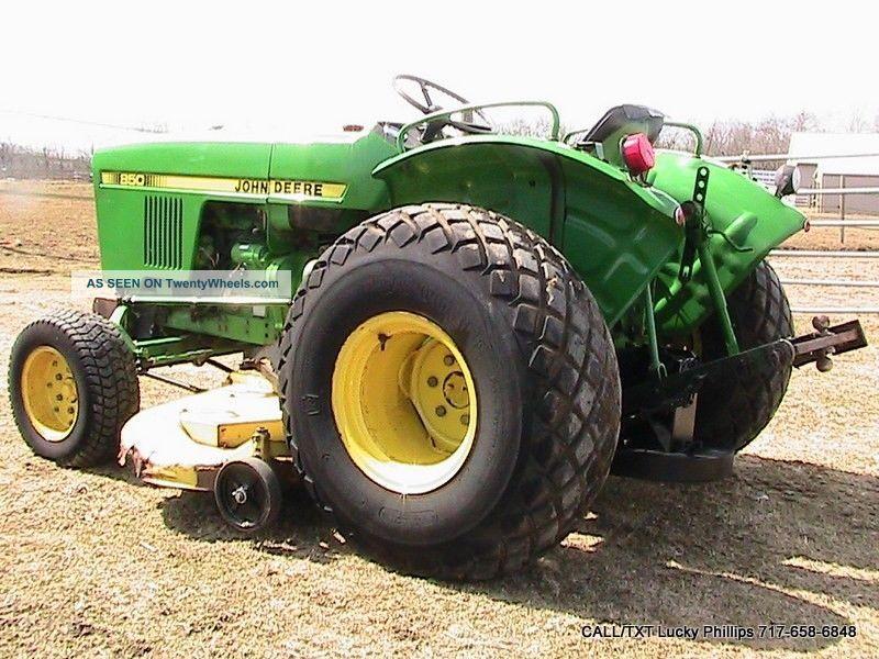 John Deere Turf Tractor Tires : John deere tractor with quot belly mower deck hp