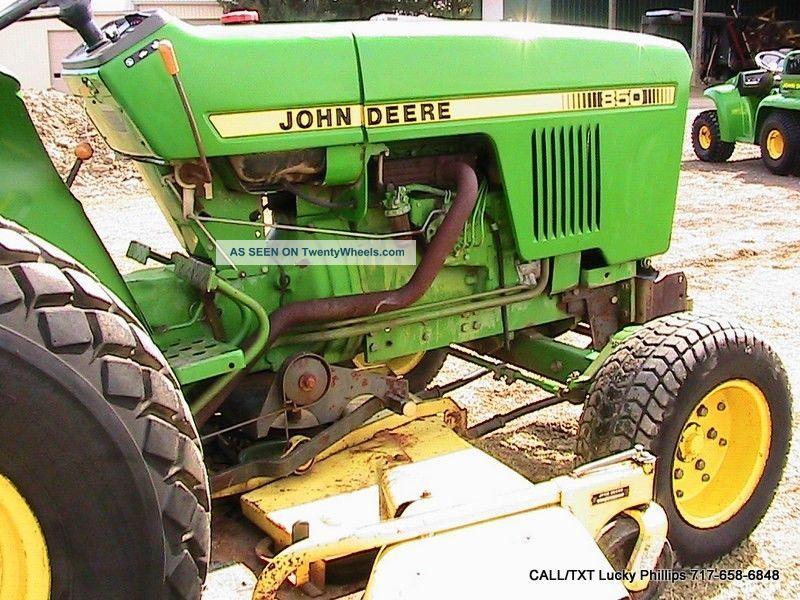 John Deere 850 Diesel Tractor : John deere tractor with quot belly mower deck hp