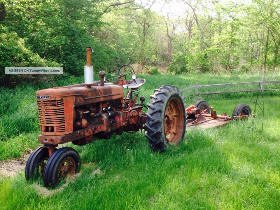 Farmall Sickle Bar Mower : Farmall m with brush hog and sickle bar mower