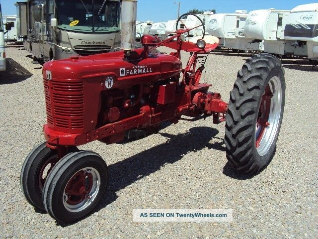Restored Antique Tractors : International farmall h vintage restored tractor