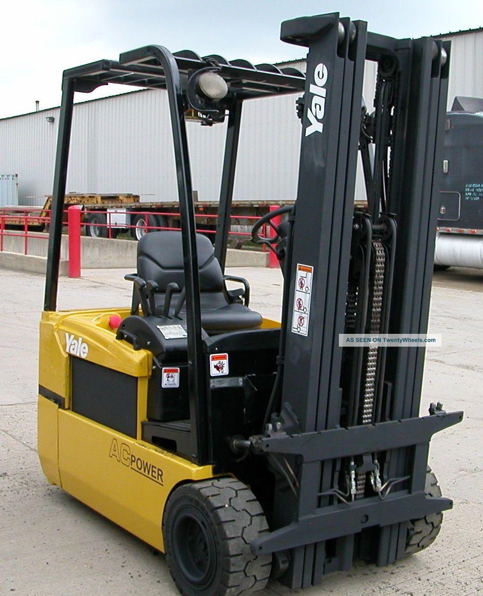 Yale Model Erp040th (2008) 4000lbs Capacity 3 Wheel