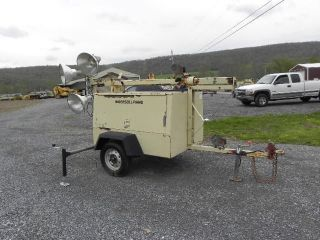 Ingersoll Rand L6 Portable Light Tower Light Plant Kubota Diesel 6kw Generator photo
