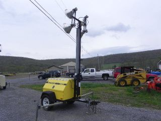 Wacker Lt4 Portable Light Tower Light Plant Isuzu Diesel 6kw Generator photo